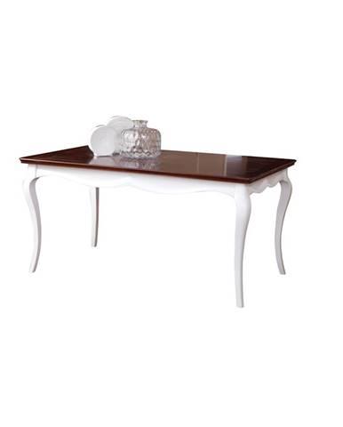 Milano MI-S1 rustikálny jedálenský stôl biela