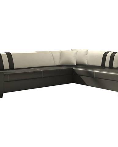 Pinero II P rohová sedačka s rozkladom a úložným priestorom čierna