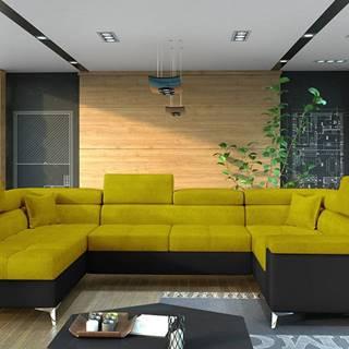 Torres U P rohová sedačka u s rozkladom a úložným priestorom žltá