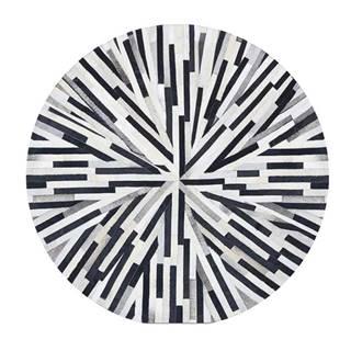 Typ 8 kožený koberec 150x150 cm vzor patchwork