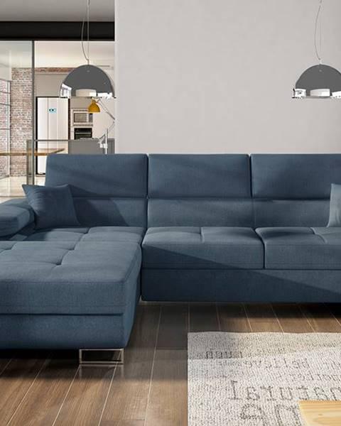 NABBI Alkazar L rohová sedačka s rozkladom a úložným priestorom modrá (Omega 86)