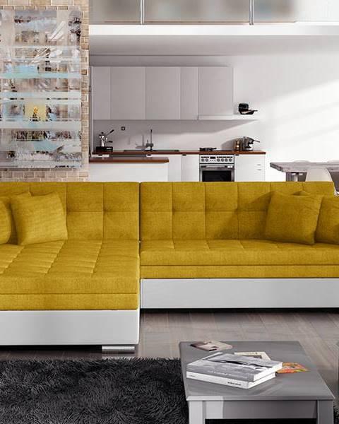 NABBI Salerno L rohová sedačka s rozkladom žltá