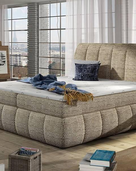 NABBI Vareso 180 čalúnená manželská posteľ s úložným priestorom cappuccino