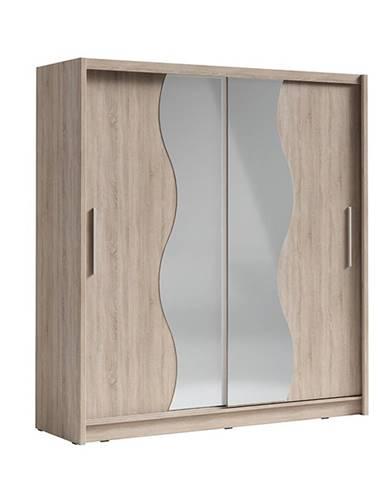 Birgamo Typ 1 šatníková skriňa s posuvnými dverami dub sonoma