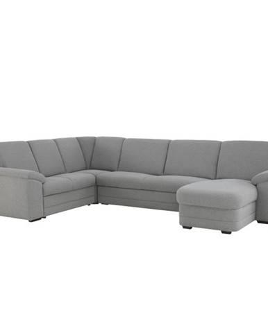 Biter U P rohová sedačka u s rozkladom a úložným priestorom sivá