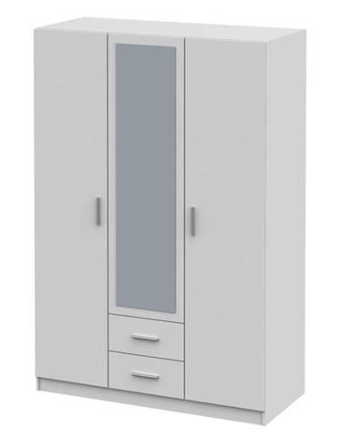 Invita Typ 2 3D šatníková skriňa so zrkadlom biela