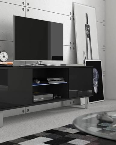 King KIN-02 tv stolík čierna