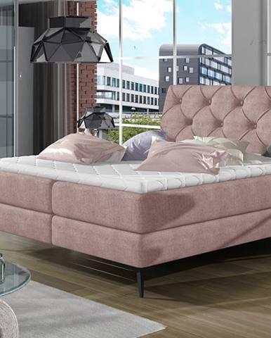 Lazio 160 čalúnená manželská posteľ s úložným priestorom ružová (Omega 91)