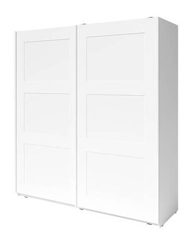 Ramiak 2D šatníková skriňa s posuvnými dverami biela