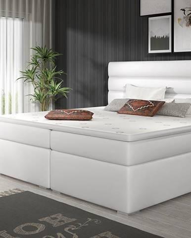 Spezia 160 čalúnená manželská posteľ s úložným priestorom biela