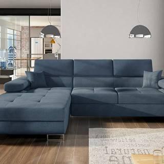 Alkazar L rohová sedačka s rozkladom a úložným priestorom modrá (Omega 86)