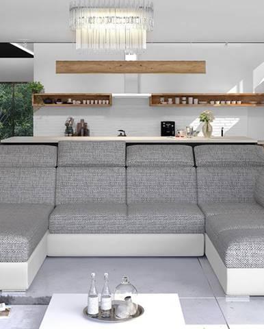 Ermo U L rohová sedačka u s rozkladom a úložným priestorom sivá (Berlin 01)