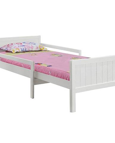 Eunika jednolôžková posteľ s nastaviteľnou dĺžkou biela
