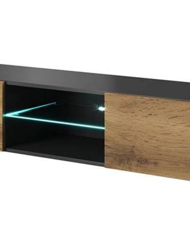 Livo 180W tv stolík na stenu antracit