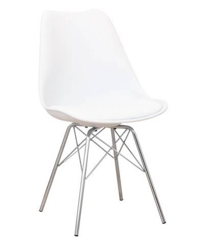 Tamora jedálenská stolička biela