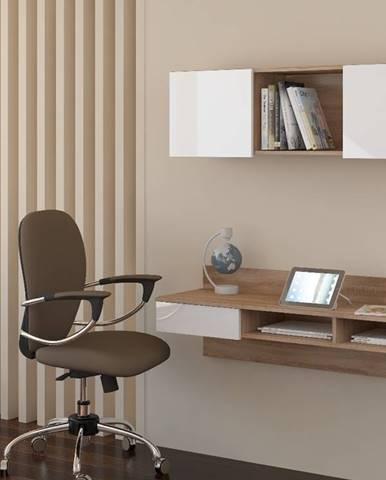 Uno pc stolík na stenu s policou sonoma svetlá