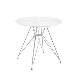 Rondy jedálenský stôl biela
