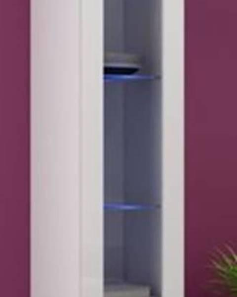 CAMA MEBLE Vigo 180 vitrína na stenu so sklom biela