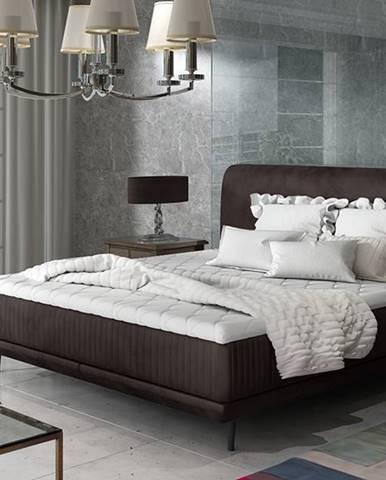 Ancona 160 čalúnená manželská posteľ tmavohnedá