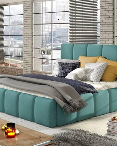 Evora 140 čalúnená manželská posteľ mentolová