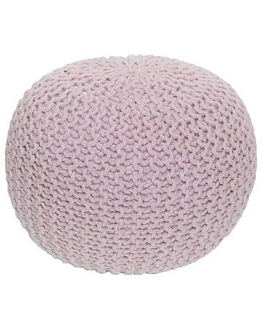 Gobi Typ 2 pletená taburetka púdrová ružová
