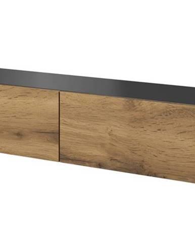 Livo 160W tv stolík na stenu antracit