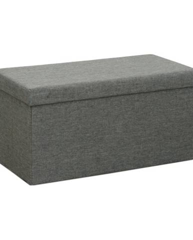 Orelia skladacia taburetka s úložným priestorom sivá