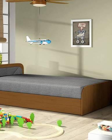 Pinerolo 80 L jednolôžková posteľ s úložným priestorom sivá