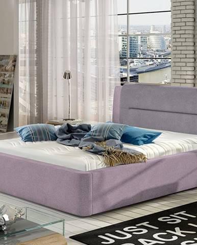 Portima 140 čalúnená manželská posteľ ružová