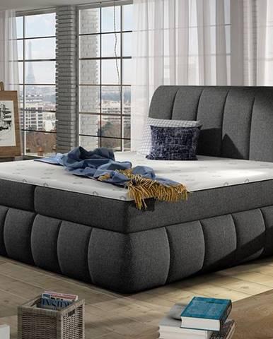 Vareso 180 čalúnená manželská posteľ s úložným priestorom sivá (Inari 91)