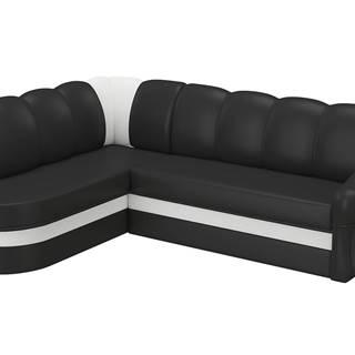 Belluno L rohová sedačka s rozkladom a úložným priestorom čierna (Soft 11)