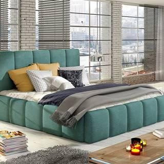 Evora 180 čalúnená manželská posteľ svetlomodrá