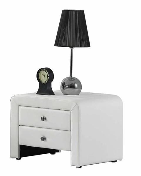 Tempo Kondela Wilson čalúnený nočný stolík biela