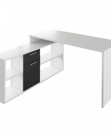 Noe New rohový písací stolík biela