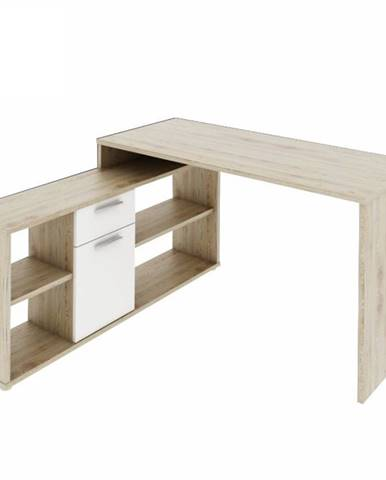 Noe New rohový písací stolík dub san remo
