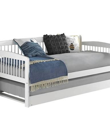 Pedreza jednolôžková posteľ s prístelkou biela