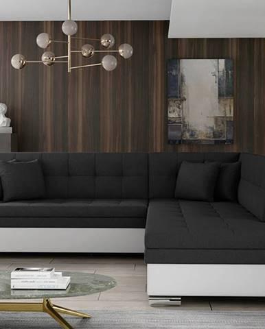 Pescara P rohová sedačka s rozkladom čierna (Sawana 14)