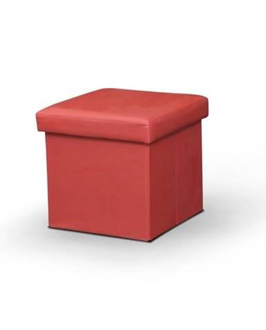 Tela New taburetka s úložným priestorom červená