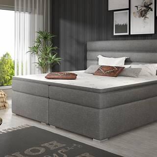 Spezia 180 čalúnená manželská posteľ s úložným priestorom sivá