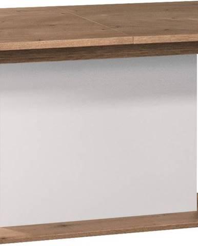 Como CM-S1 rozkladací jedálenský stôl biely vysoký lesk