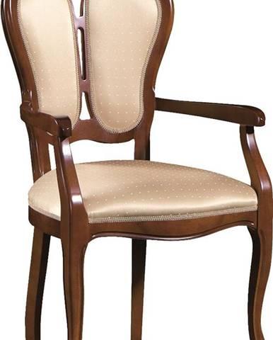 Krzeslo K rustikálne jedálenské kreslo nový orech