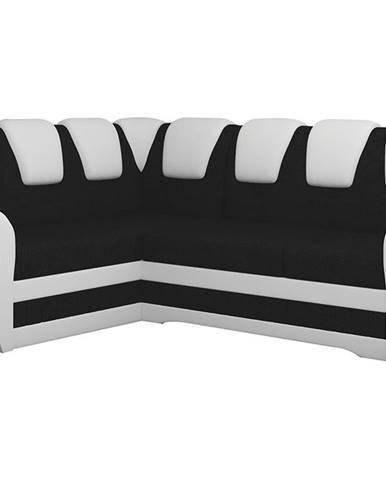 Latino II L rohová sedačka s rozkladom a úložným priestorom čierna (Sawana 14)