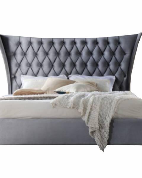 Tempo Kondela Alesia 180 manželská posteľ 180x200 cm sivá