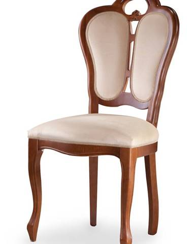 Krzeslo K rustikálna jedálenská stolička nový orech