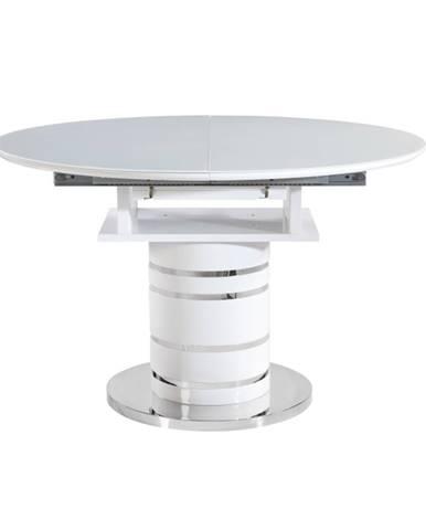 Zamon jedálenský stôl biely vysoký lesk