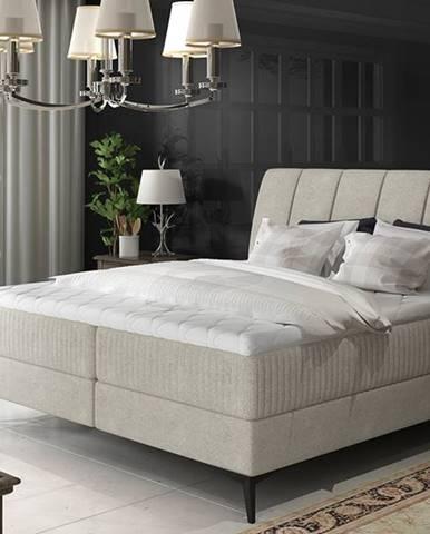 Altama 160 čalúnená manželská posteľ s úložným priestorom svetlosivá (Orinoco 21)