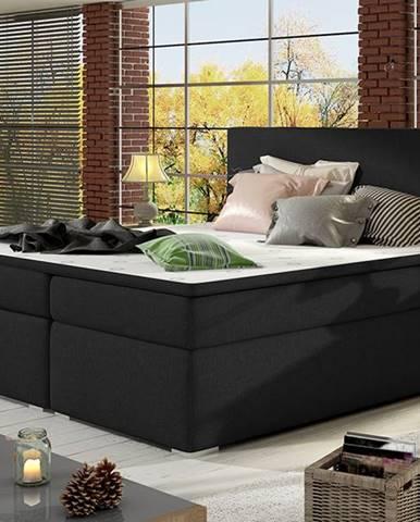 Diana 180 čalúnená manželská posteľ s úložným priestorom čierna (Sawana 14)