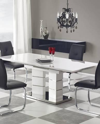Lord 160 rozkladací jedálenský stôl biely lesk