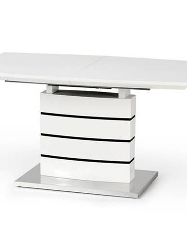 Nord rozkladací jedálenský stôl biely lesk