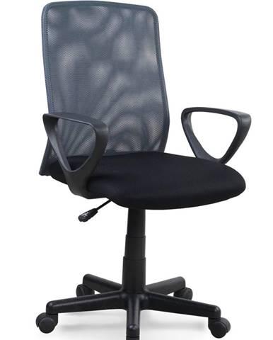 Alex kancelárska stolička s podrúčkami čierna